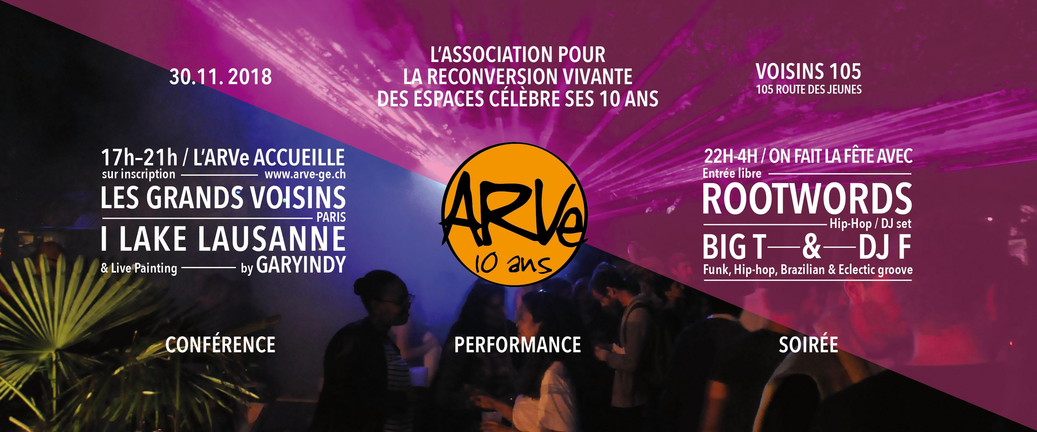 Flyer programme 10 ans de l'ARVe