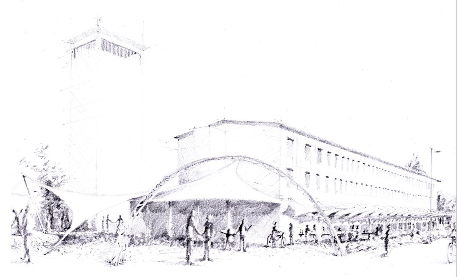 Vue d'architecte du projet KZern éphémère de l'ARVe