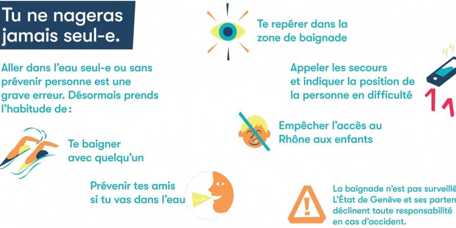 Bons comportements pour la baignade dans le Rhône